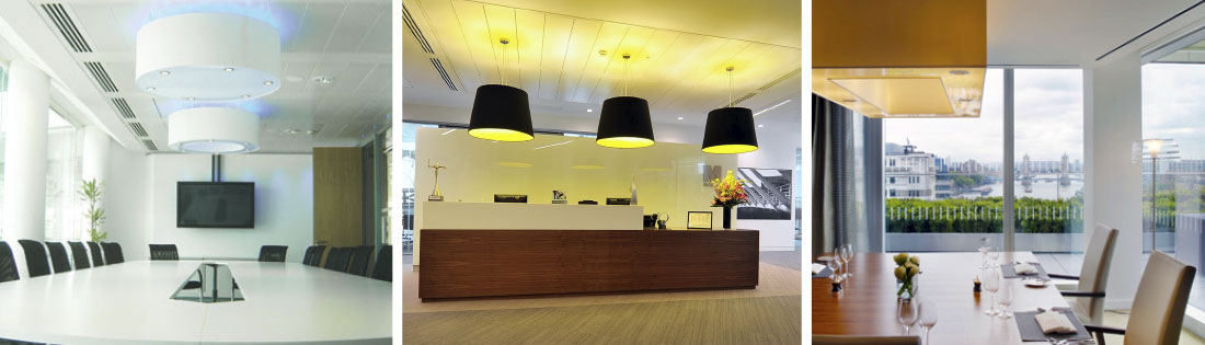 lighting in an office. We Manufacture All Of Our Large And Oversized Office Lighting In-house Which Ensures Always Have The UK\u0027s Largest Choice Size, Colour Fabrics In An