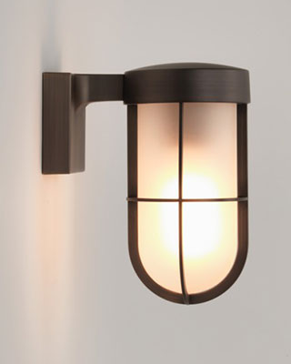Salt Lamps Napier : Cabin Semi-Flush Nickel
